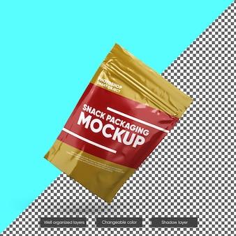 Maquete de embalagem de lanche