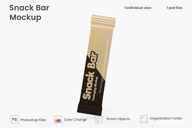 Maquete de embalagem de lanchonete de chocolate premium psd
