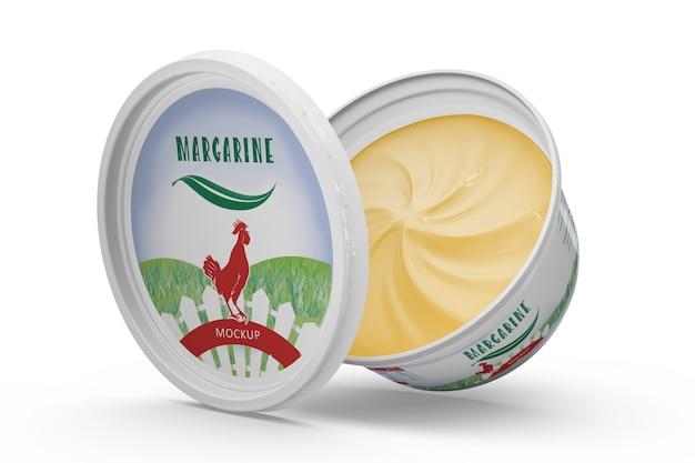 Maquete de embalagem de margarina