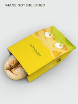 Maquete de embalagem de pão