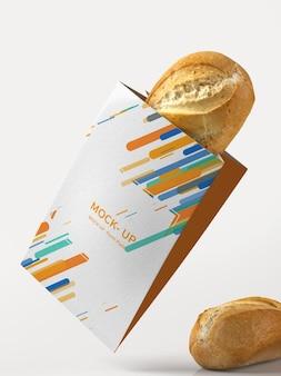 Maquete de embalagem de papel manteiga