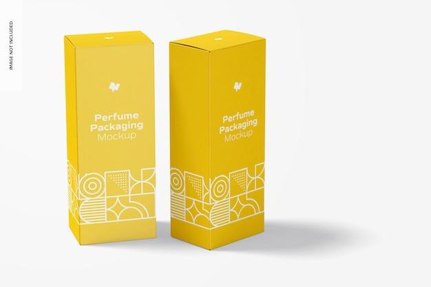 Maquete de embalagem de perfume grande, perspectiva
