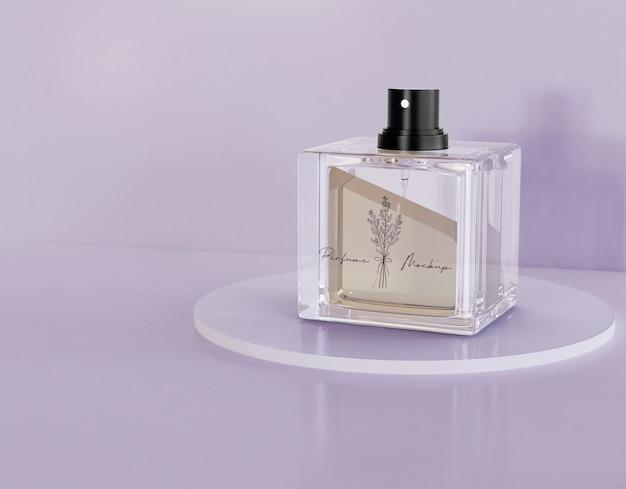 Maquete de embalagem de perfume