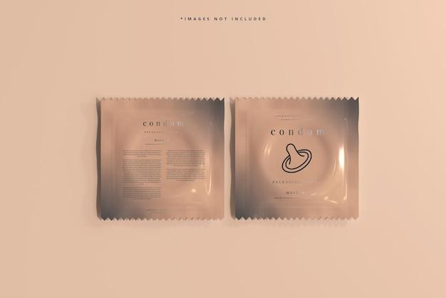 Maquete de embalagem de preservativo