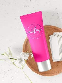 Maquete de embalagem de produto cosmético