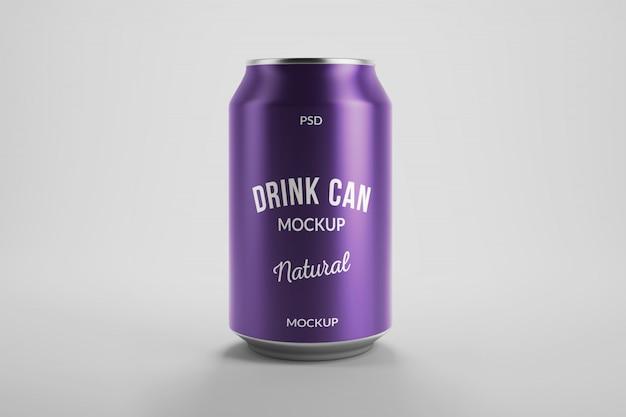 Maquete de embalagem de produto de lata de cerveja de alumínio de 330 ml