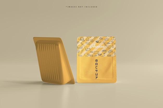 Maquete de embalagem de queijo