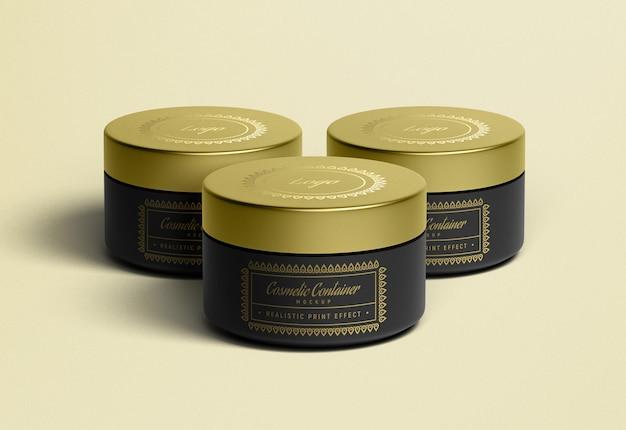 Maquete de embalagem de recipiente de creme cosmético