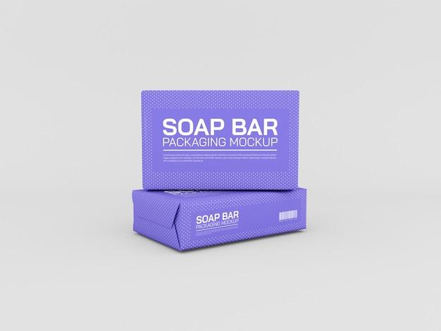 Maquete de embalagem de sabonete