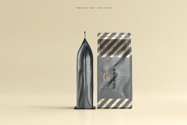 Maquete de embalagem de saco de café grande