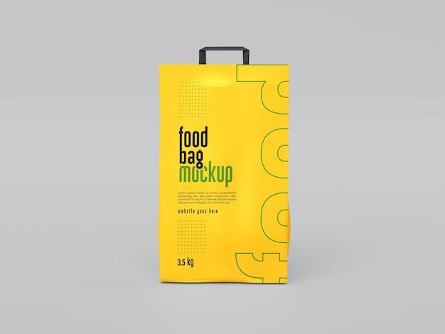 Maquete de embalagem de saco de comida