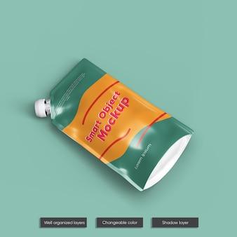 Maquete de embalagem de suco de folha de fruta