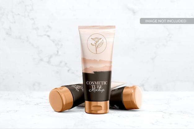 Maquete de embalagem de tubo cosmético