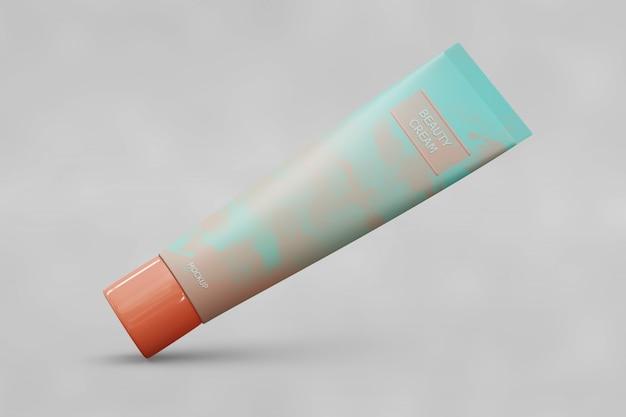 Maquete de embalagem de tubo