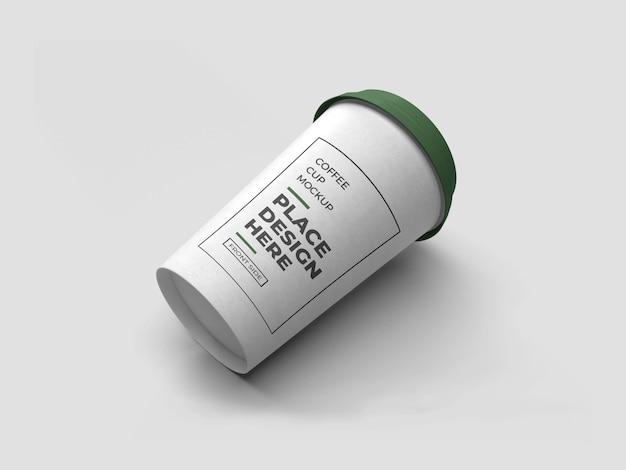 Maquete de embalagem de xícara de café isolada