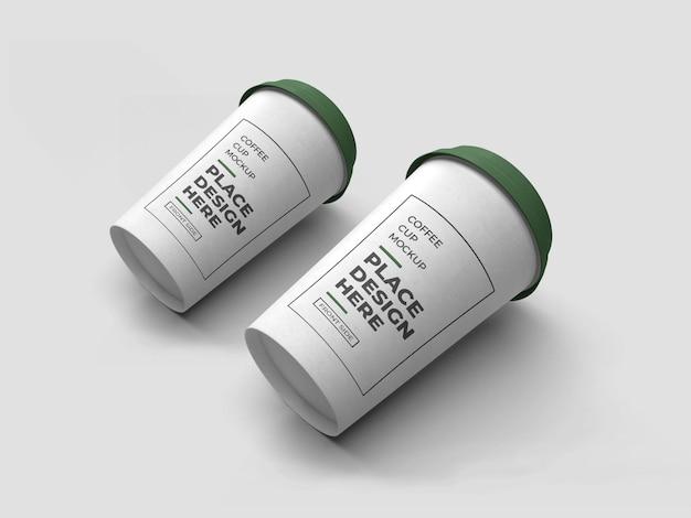 Maquete de embalagem de xícara de café