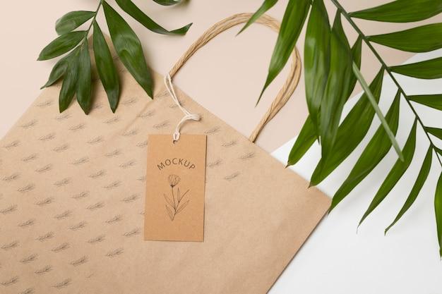 Maquete de embalagem ecológica