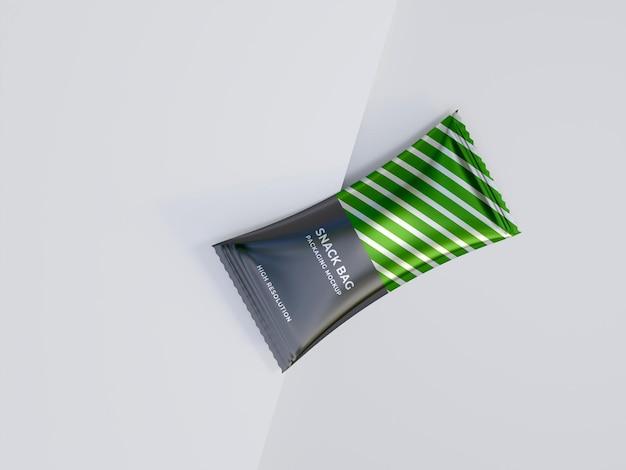 Maquete de embalagem para lanche grátis psd premium