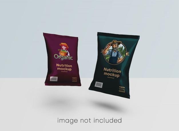 Maquete de embalagens de alimentos