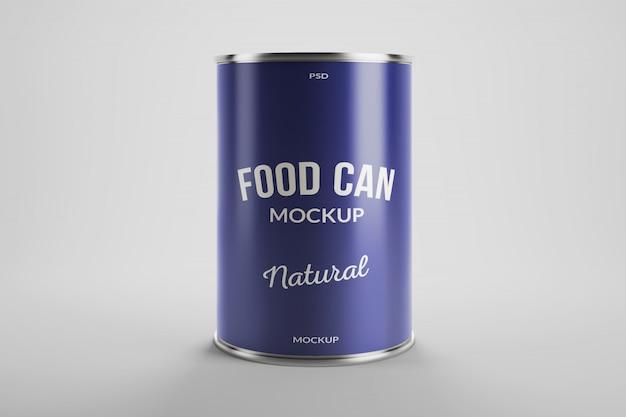 Maquete de embalagens de produtos de lata de alumínio para alimentos