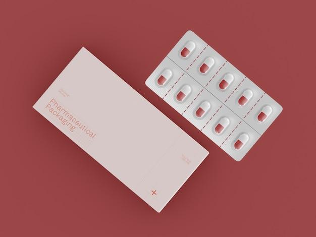 Maquete de embalagens farmacêuticas