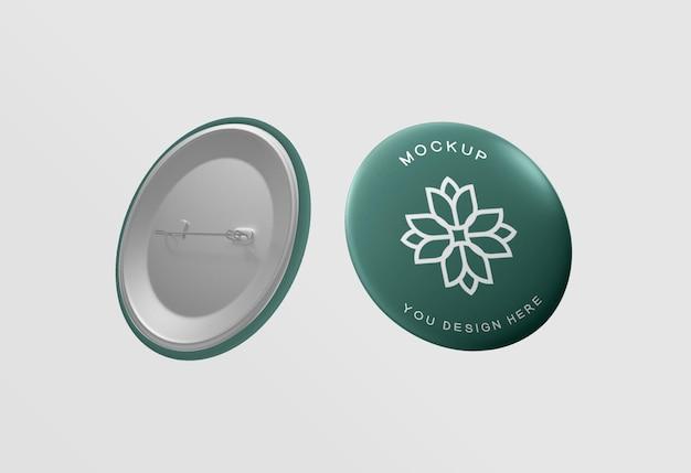 Maquete de emblema de botão elegante