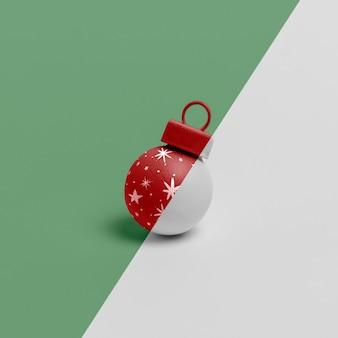 Maquete de enfeite de globo de natal
