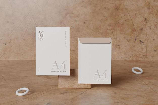 Maquete de envelope branco grande