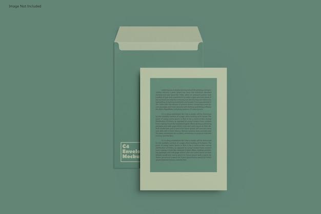 Maquete de envelope c4 Psd Premium