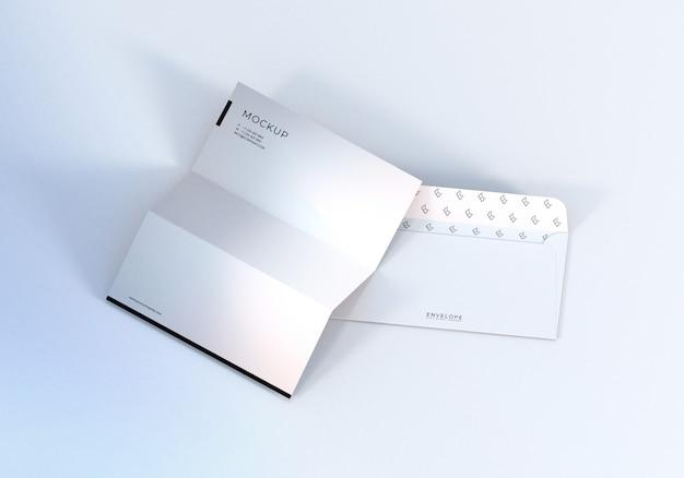 Maquete de envelope e papel timbrado