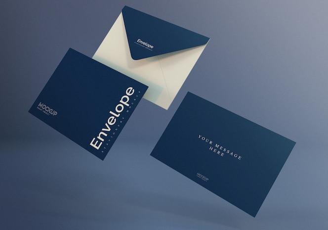 Maquete de envelope elegante