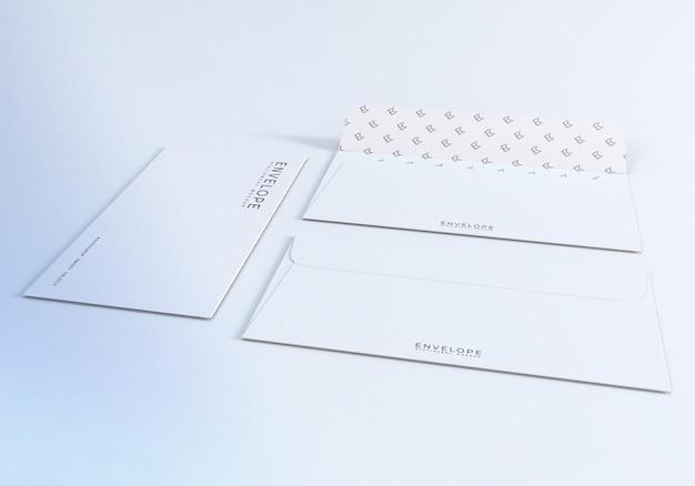 Maquete de envelope frente e verso