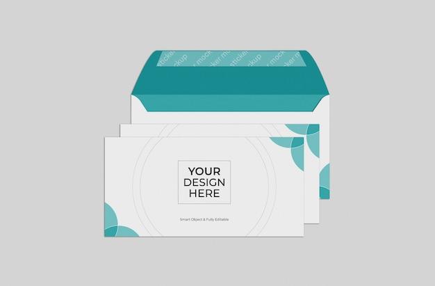 Maquete de envelope, modelo de maquete de envelope de negócios