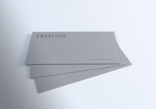 Maquete de envelope monarca de empilhamento