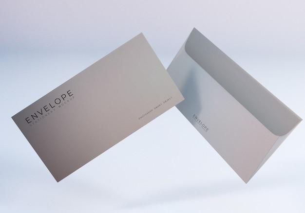 Maquete de envelope monarca flutuante
