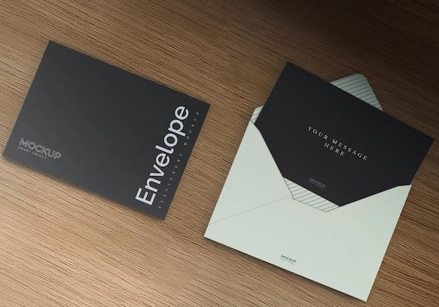 Maquete de envelope preto
