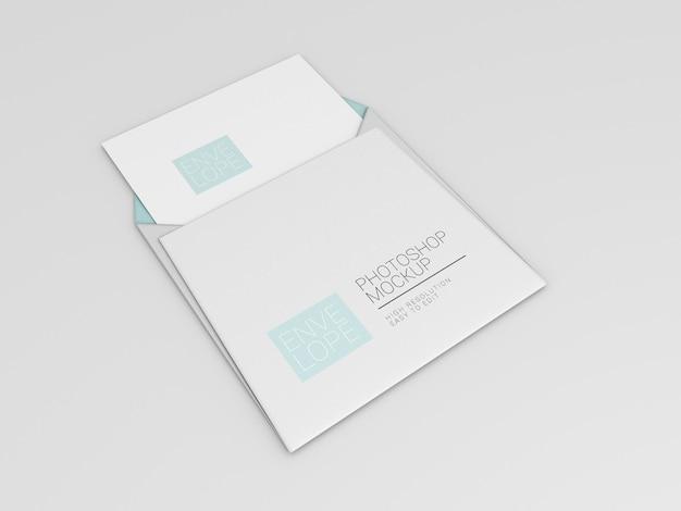 Maquete de envelope quadrado