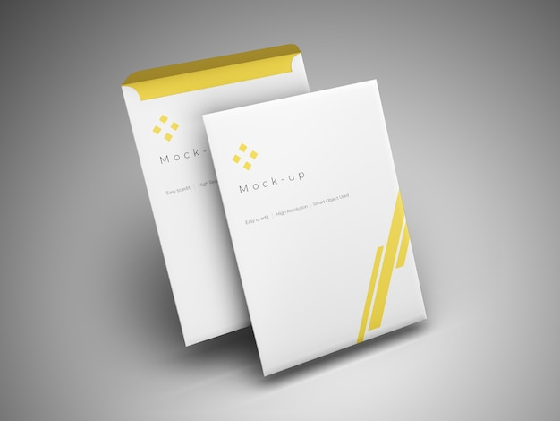 Maquete de envelope sobreposto