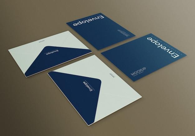 Maquete de envelopes