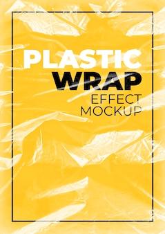 Maquete de envoltório plástico