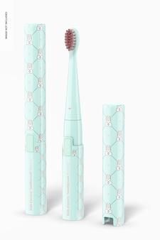 Maquete de escova de dentes elétrica infantil, vista esquerda Psd Premium