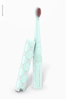 Maquete de escova de dentes elétrica infantil Psd grátis