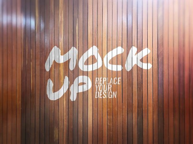 Maquete de escova de parede de madeira