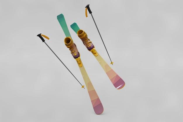 Maquete de esqui