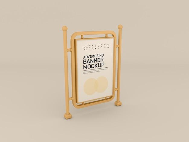 Maquete de estande de publicidade