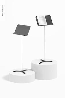 Maquete de estandes de música