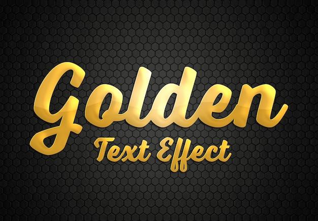 Maquete de estilo de efeito de texto dourado