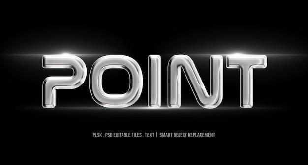 Maquete de estilo de texto 3d de ponto