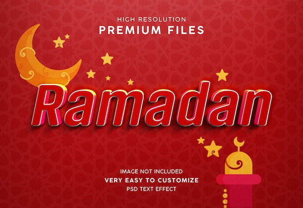 Maquete de estilo de texto ramadan 3d
