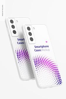 Maquete de estojos para smartphone, flutuante